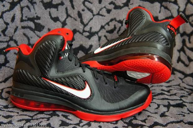 black and red lebron 9