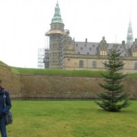 "Junior Allegra Caldera (right) and her host sister Mathilde, visit Kronborg Castle, the famous setting of Shakespeare's ""Hamlet."" Twelve Whitman students participated in an exchange program Nov. 18 to 26 with the Danish school, Norre Gymnasium. Photo courtesy Allegra Caldera."