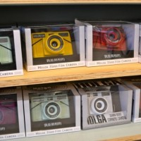 Urban Outfitters sells Holga lomograph cameras to photographers and hipsters alike. Students in Photo classes are using the vintage cameras to experiment with different image styles. Photo by Abby Cutler.