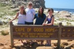 Ali Foreman (far right) visits the Cape of Good Hope with her host sister, Sarah, and fellow Whitman exchange student Kate O'Brien (second left) and her host sister.