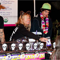 """Dressed-up volunteers pass out candy at the National Zoo's """"Boo at the Zoo."""" Photo courtesy the National Zoo."""