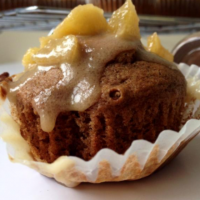 """Swaminathan recently posted about autumn spiced muffins with caramel apple glaze on her successful food blog """"Whisk and Shout."""""""
