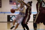 Guard Abby Meyers drives to the basket to score two of her game-high 28 points in Tuesday's 61-51 win over Paint Branch. Photo by Nick Anderson.