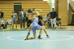 170lb Ezra Alexander begins a pin combination in his win against a Digital Harbor opponent. Photo by Michelle Jarcho