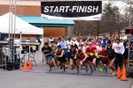 Runners begin the Red Rush 5k, which took place last Sunday to raise money for LLS. Photo by Michelle Jarcho.