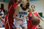 Forward Livy Meyers looks to go up strong for a layup in the Vikes' win over Northwood. Photo by Nick Anderson.