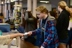 Students vote for SMOB and SGA candidates Wednesday during English classes. Sophomore Eric Guerci was elected SMOB and junior Selvi Ulusan was elected SGA President. Photo by Michelle Jarcho.
