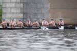 Men's varsity eight rows on the Anacostia River. Photo courtesy Kirk Shipley.
