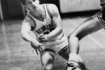 "Art teacherMike Seymour plays basketball in high school. This photo of Seymour was one of a series of ""Throwback Thursday"" posts as part of the Staff Laff initiative. Photo courtesy of Kathy McHale."