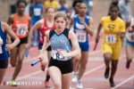 Sprinter Maddy Frank opened the relay for Whitman in the Girls' 4x400 at the annual Penn Relay Carnival. Photo courtesy of Penn Relays.