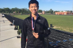 Second singles player Andrew Leung was the only Viking to win his section. Photo courtesy Jasen Gohn.