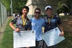 Doubles players Jack Welch and Andrew Leung after winning their state championship game 6–2, 6–1. Photo courtesy Jasen Gohn