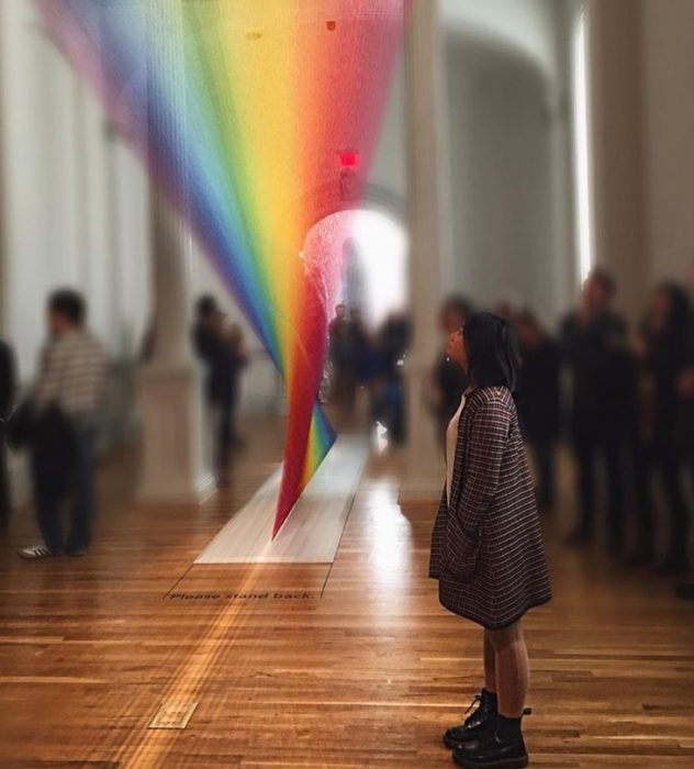 Junior Maya Chen takes in the WONDER of on of the Renwick Museum's main art pieces. This is only one of the many exhibits and activities D.C. has to offer this summer. Photo courtesy Maya Chen.